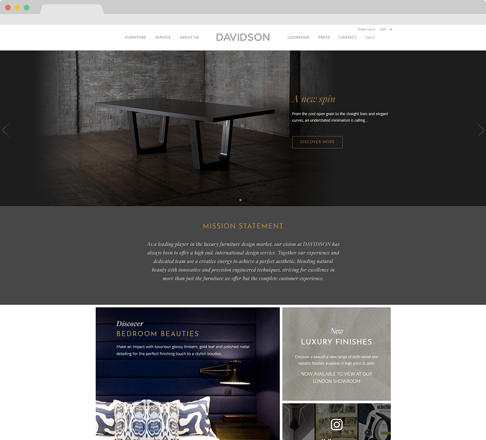 Davidson London website