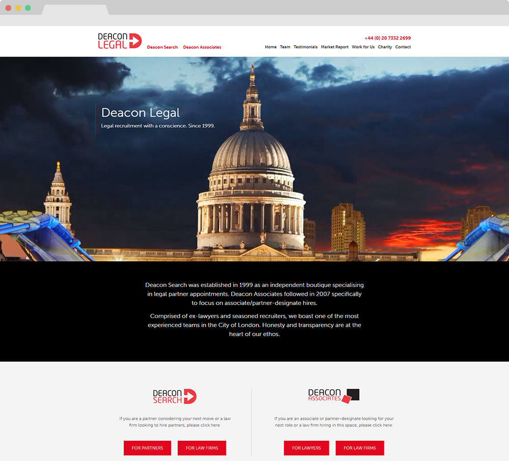 Deacon Legal website